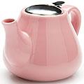 23056-1 Заварочный чайник РОЗОВЫЙ 950мл керам LR (х24)