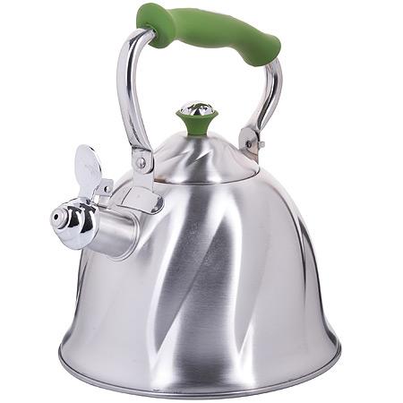 23775 Чайник мет 3л со свист руч/зеленая МВ(х12)