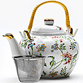 21130 Заварочный чайник 1л керамика ЦВЕТЫ LR (х12)