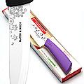 21842-3 Нож 27 см.КЕРАМИКА ФИОЛЕТОВАЯ силиконовая ручка МВ(х30)(х40)