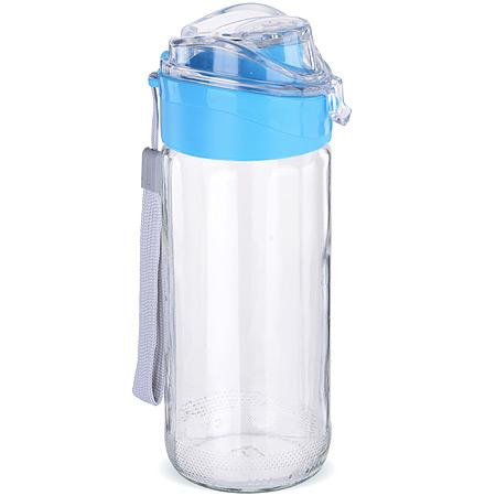 80544-2 Бутылка для напитков стекло ГОЛУБАЯ 0,5 л MB (х15)