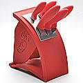 22543 Набор ножей 5пр сил/руч + подставка МВ (х6)