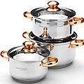 25665 Набор посуды 6пр 2,1+2,9+3,9см нерж MB (х4)