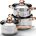 25666 Набор посуды 6пр 2,1+2,9+3,9см нерж MB (х4)