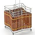 8636 Подставка МВ для стол.приб.хром/плетенка(х36)