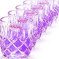 20221-2 Набор стаканов 6 предметов ФИОЛЕТ. LR(х12)