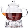 27599 Чайник стекло 1 л+ подогрев,сито МВ (х12)