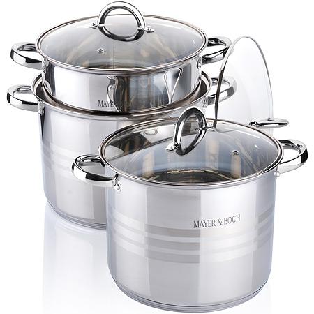 26698 Наб/посуды 6пр 6,8+8,6+10,6л с/кр MB (х2)