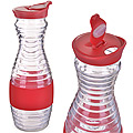 28185-2 Графин 1000мл стекло с крышкой КРАСНЫЙ LR (х12)
