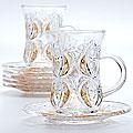 22755 Набор стаканов 6пр + блюдца 195мл LR (х6)