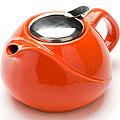 23057-1 Заварочный чайник керамика 750мл ОРАНЖЕВЫЙ LR (х24)