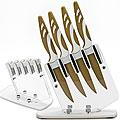 23318 Набор ножей 4пр АНТИБАКТ. на подст МВ (х12)