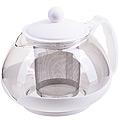 28827-2 Заварочный чайник 750мл нерж/сито БЕЛЫЙ MB (х24)