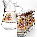 24065 Набор стаканов 6шт+графин 7 пр.  LR (х6)