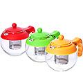 26174-1 Заварочный чайник КРАСНЫЙ стекло 0.75л ситоMB(х48)
