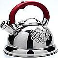 22787 Чайник мет 2,6л  цвета ручка красная МВ (х12)