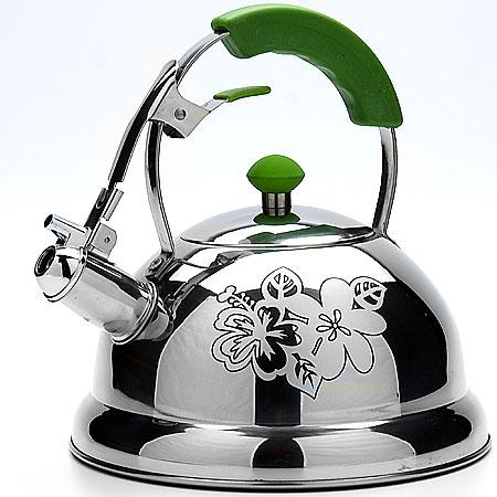 22791 Чайник мет 2,6л /цв руч/зелен МВ(х12)