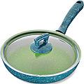 80232  Сковородка 24см алюм/мрам с крышкой Турция MB (х12