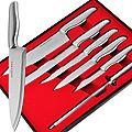 4133 Набор ножей с точилкой(6пр) MB в кор (х12)