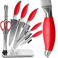 4136 Набор ножей(8пр) MB КРАСНЫЙ в ст/под/веер (х6)