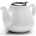 26595-1 Заварочный чайник БЕЛЫЙ 600мл LR (х24)