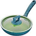 80230  Сковородка 20см алюм/мрам с крышкой Турция MB (х12