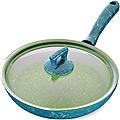 80233  Сковородка 26см алюм/мрам с крышкой Турция MB (х12