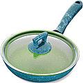 80231  Сковородка 22 см алюм/мрам с крышкой Турция MB (х12