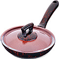 80219 Сковородка 18см алюм/мрам с крышкой Турция MB (х12)