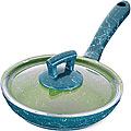 80229  Сковородка 18см алюм/мрам с крышкой Турция MB (х12