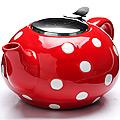 26596-1 Заварочный чайник КРАСНЫЙ 750мл LR (х24)