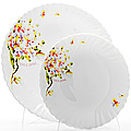23687 Набор тарелок 7пр стекло-керамика LR (х6)