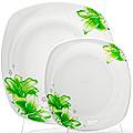 23689 Набор тарелок 7пр стелко-керамика LR (х6)