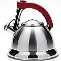 21422 Чайник 3,7л мет,сил/руч красная со свистком МВ (х12)