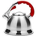 21424 Чайник 3,7л мет,сил/руч красная со свистком МВ (х12)