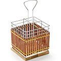 8639 Подставка МВ для стол.приб.хром/плетенка(х32)