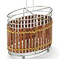 8634 Подставка МВ для стол.приб.хром/плетенка(х36)