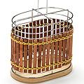 8635 Подставка МВ для стол.приб.хром/плетенка(х24)