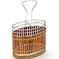 8637 Подставка МВ для стол.приб.хром/плетенка(х36)