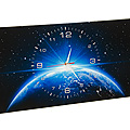 40517 Часы 30х70 холст Европа из космоса