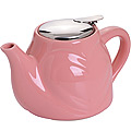 23058-1 Заварочный чайник РОЗОВЫЙ КЕРАМИКА 500 мл LR (х24)