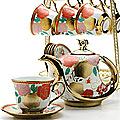 24784 Чайный набор 15пр на подставке/метал LR (х6)