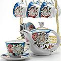 24786 Чайный набор 15пр на подставке/метал LR (х6)