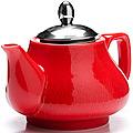 26592 Заварочный чайник КРАСНЫЙ 750мл LR (х24)