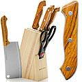 395 Ножи 8пр дерево/ручка с топором (х12)