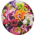 40503 Часы круглые дерево Букет роз