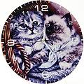 40505 Часы круглые дерево Котята