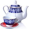 27848 Чайный сервиз 13 пр керамика 220мл LR (х4)