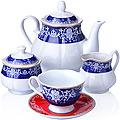 27857 Чайный сервиз 15 пр керамика 220мл LR (х2)