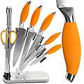 4136-2 Набор ножей(8пр) MB ЖЕЛТЫЙ в ст/под/веер (х6)